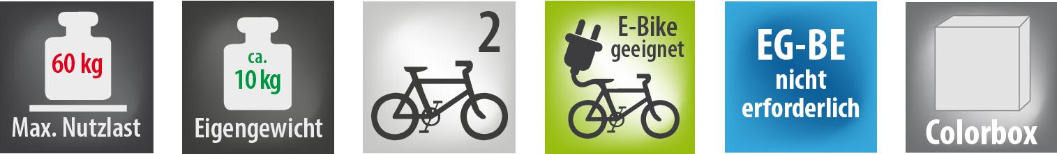 Fahrradtraeger für Deichsel gleitend